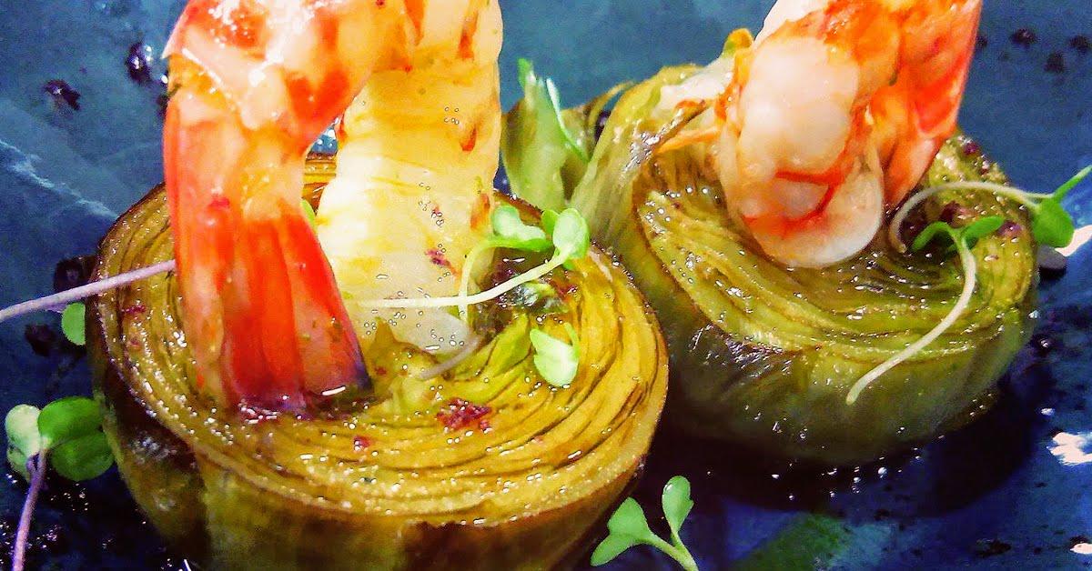 el guano restaurante corazones alcachofas langostinos gazpacho ajo blanco